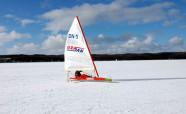 Bojer klasy DN na jeziorze Święcajty